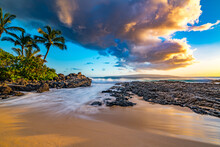 Sunset Over Secret Beach Maui.