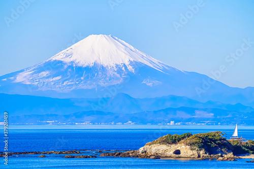 Fotografie, Obraz 【冬の富士山】三浦半島から見る、富士山