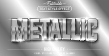 Editable Text Style Effect - Metallic Theme Style.