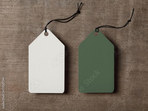 Obraz na plátně Label Tag mockup template