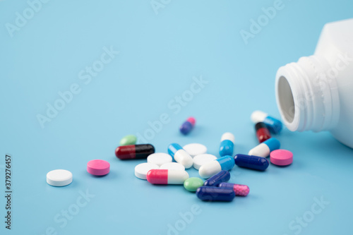 Fotografie, Obraz medicine antibiotic  Drug prescription for treatment healthcare concept