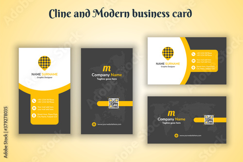 Valokuva Vertical & Horizontal Cline and Modern Business card print template