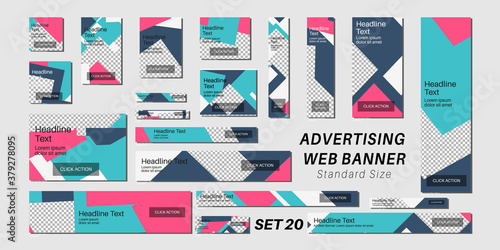 Fotomural Set of web banners in standard sizes