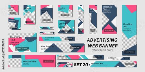 Obraz na plátně Set of web banners in standard sizes