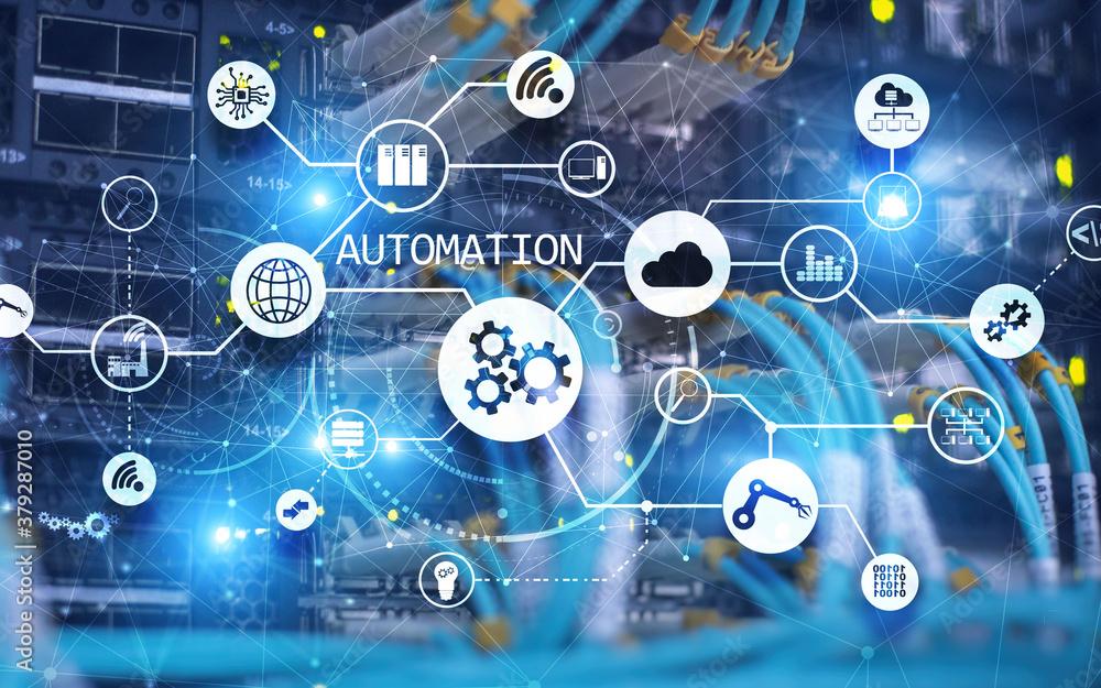 Fototapeta Automation Software Technology Process System Business concept 2021