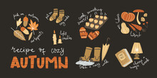 Poster With Cozy Autumn Tips. Simple Cute Illustration