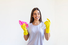 Young Woman Doing House Chores...