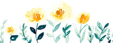 Seamless Watercolor Floral Bor...
