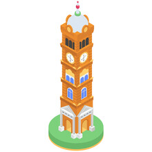 Oldest Monument Isometric Ico...