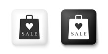Black And White Shoping Bag Wi...