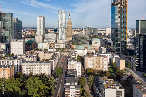 Warsaw, Poland - view of the city. #379302858