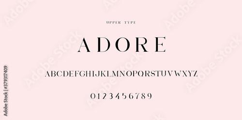 """Adore"" font uppercase Wallpaper Mural"