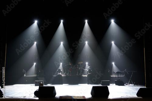 Fototapeta Concert light show, colorful lights in a concert stage obraz