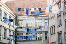 Washed Clothes Drying Outside ...