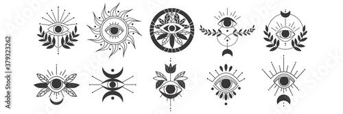 Fotografia Eyes doodle set