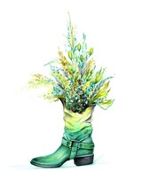 Autumn Illustration With Boot ...