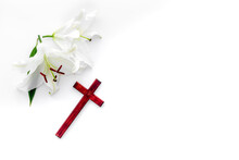 Condolence Card With White Flo...
