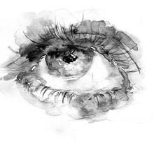 Eye In Watercolor With Splash ...
