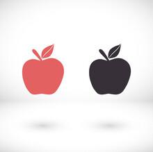 Apple Icon In Trendy Flat Styl...
