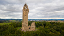 Wallace Monument In Stirling, Scotland