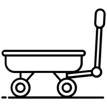 Trendy Vector Design Of Wagon Icon., Carriage Transport