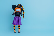 Witch With A Pumpkin  Wearing ...
