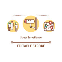 Street Surveillance Concept Ic...