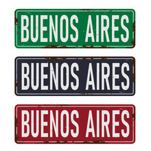 Buenos Aires, Road Sign Vector...