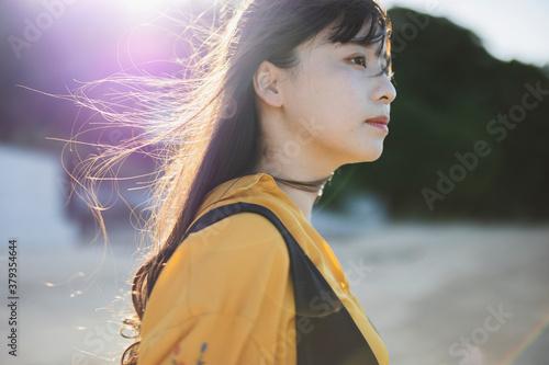 Fotografía 海辺の女性