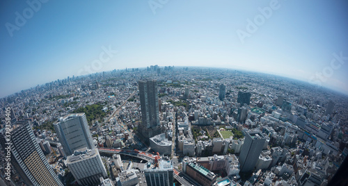 Fotografie, Obraz 東京風景 魚眼撮影 池袋から望む都心全景