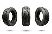 Three Winter Friction Tires, I...