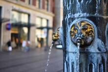 Lion Head Statue Fountain Wate...