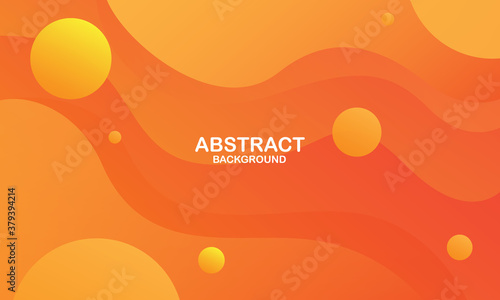 Fototapeta Colorful geometric background. Orange elements with fluid gradient. Dynamic shapes composition. Vector illustration obraz