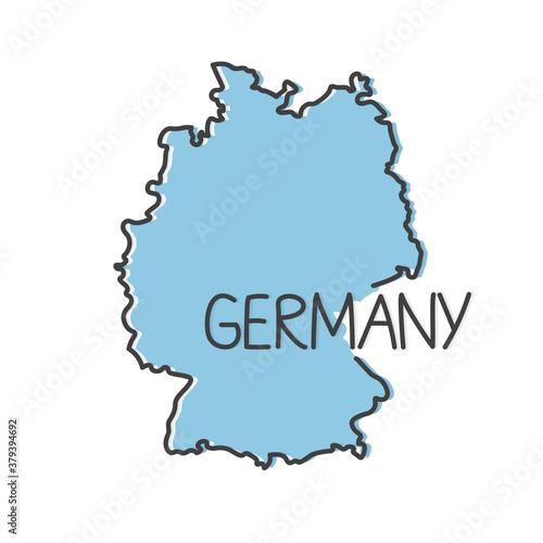 Fototapeta outline of Germany map- vector illustration obraz