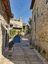 Mirmande, A Narrow Street In T...