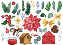 Christmas Set Of Elements, On ...