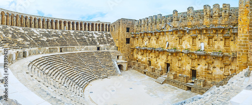 Archaeological sites of Antalya province, Turkey.