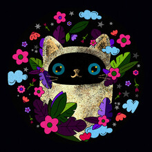 Siamese Cat Nature Illustration