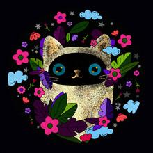 Siamese Cat Nature Illustration