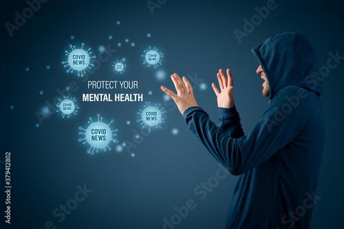 Fototapeta Protect your mental health in covid-19 crisis times obraz