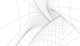 Fototapeta Do przedpokoju - abstract architecture arch 3d illustration