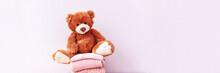 Brown Stuffed Teddy Bear Sitti...