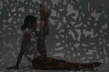 Girl Dancer Doing Stretching I...