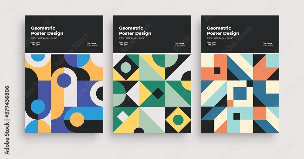 Retro Abstract Geometric pattern cover design. Applicable for Placards, Books, Posters, Flyers Banner etc. Covers.