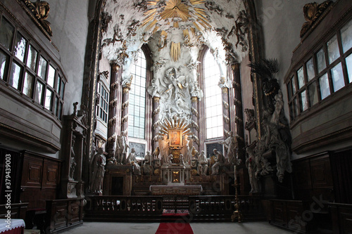 baroque church (saint-michel) in vienna (austria) Wallpaper Mural