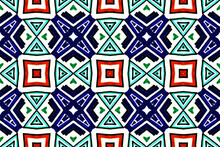 Ethnic Seamless Pattern. Geome...