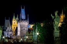 Prague, Pont Saint Charles De ...