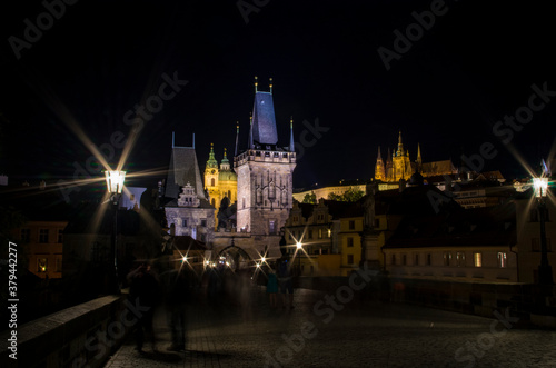 Fototapeta Prague, Pont Saint Charles de nuit obraz