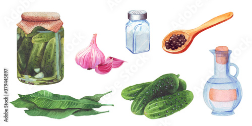 Canvastavla Set of Pickled Cucumbers, Ingredients for cooking