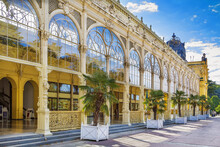 Main Spa Colonnade In Marianske Lazne, Czech Republic. Neo-Baroque Colonnade Was Built Between 1888 And 1889.